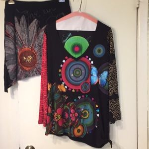 Desigual top and skirt size xl
